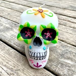 Sugar Skull Large Wax Candle